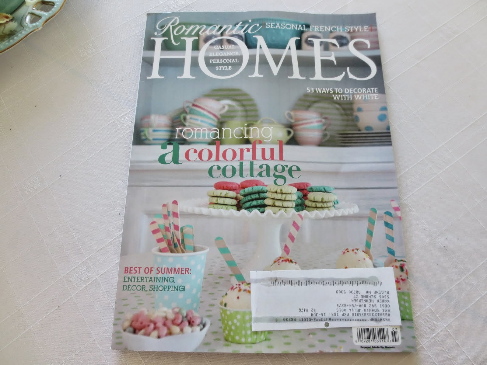 Thank You Romantic Homes Magazine