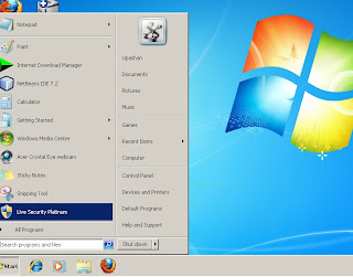 LIVE SECURITY PLATINUM in start menu