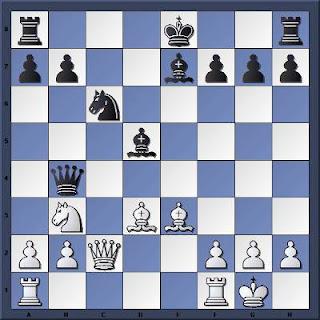 Echecs à Khanty-Mansiysk : la position après 14.Dc2