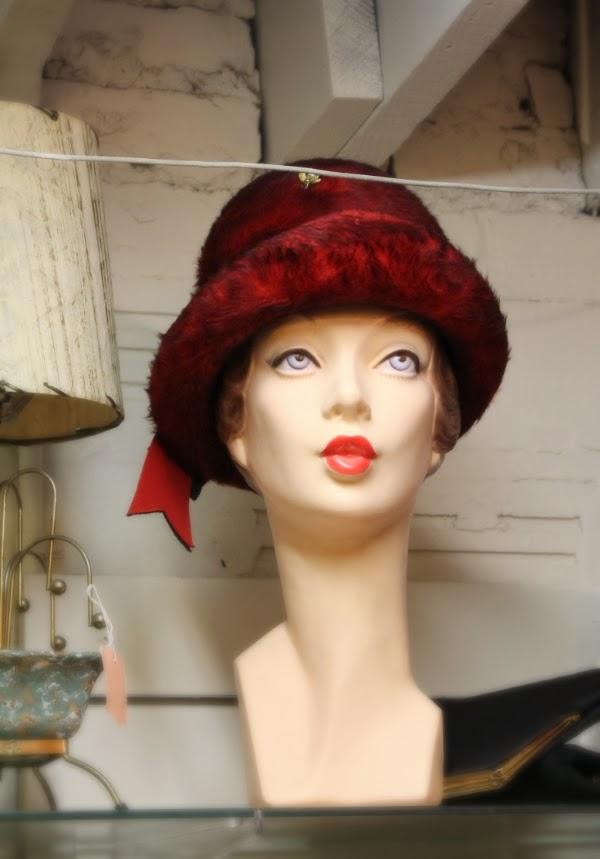 Vintage Mannequin #vintage #mannequin #head #hat