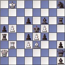 Problema de ajedrez tema Clusella, mate en 2