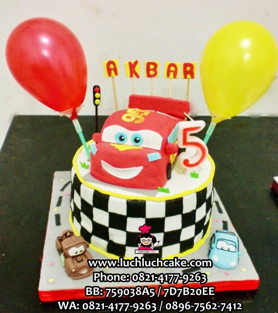Kue Tart Cars 3D Fondant Daerah Surabaya - Sidoarjo