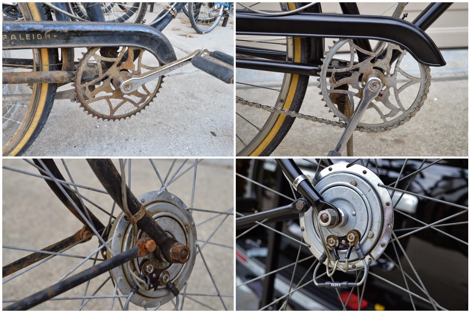 bike Rebuild hub vintage