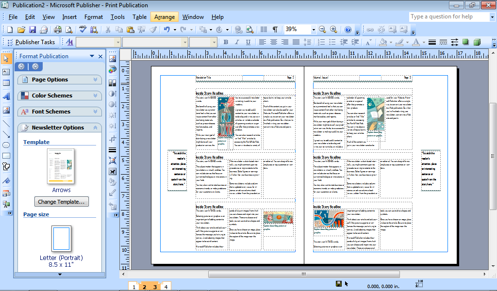 how to make a booklet in publisher 2007