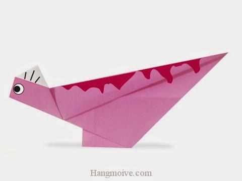 Hướng dẫn cách gấp con khủng long Corythosaurus bằng giấy đơn giản - Xếp hình Origami với Video clip