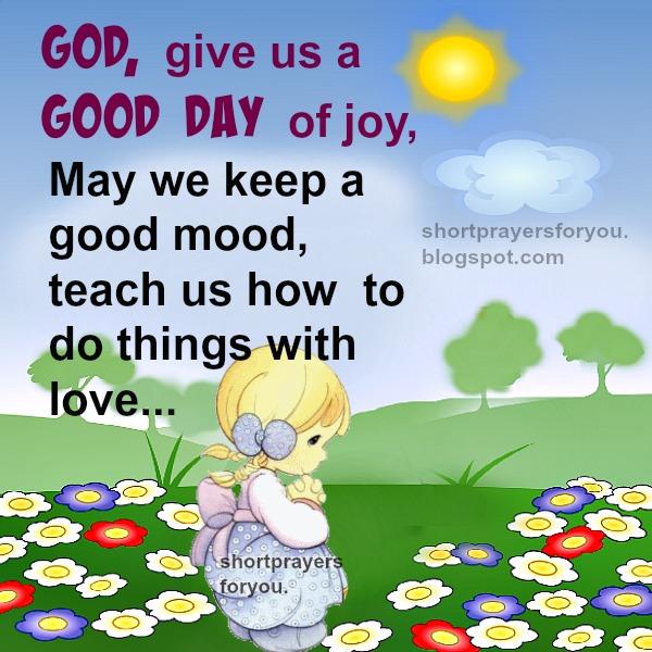 morning prayer, short prayers for you, free christian prayer image
