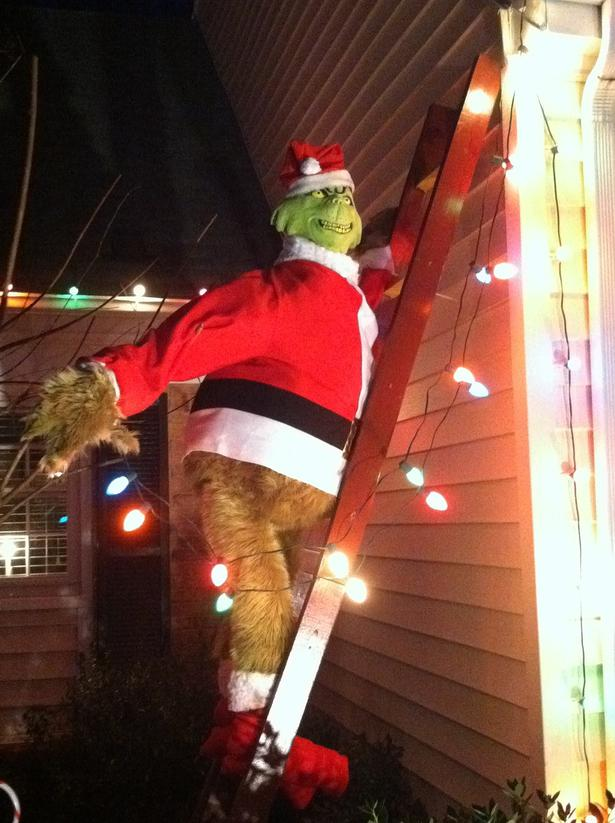 Inflatable grinch christmas lawn decorations myideasbedroom