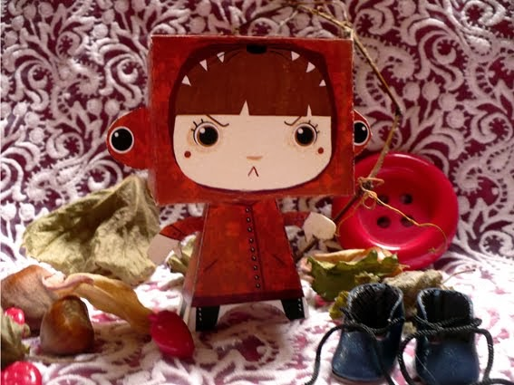 Personaggi Delle Favole Di Carta Cappuccetto Rosso Creare Con La