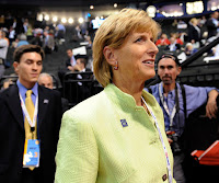 Former EPA chief Christine Whitman at 2008 Republican National Convention. (Credit: Susan Walsh, AP) Click to Enlarge.