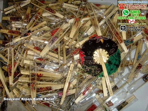Souvenir Kipas Batik Bulat BambuBatik Yogyakarta