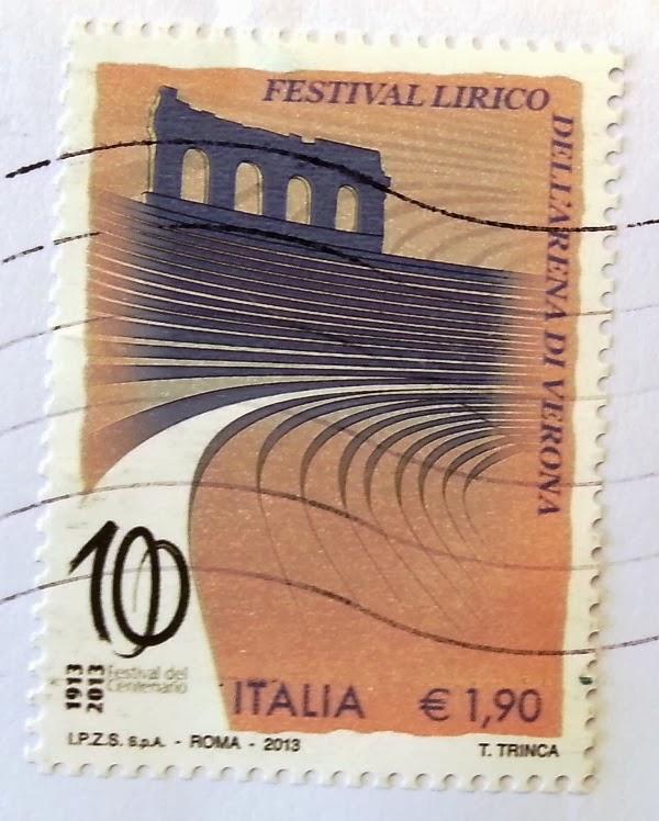 Francobollo centenario FESTIVAL LIRICO dell'ARENA DI VERONA