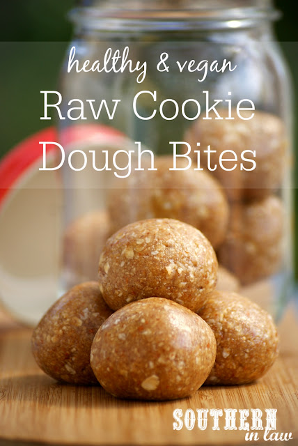 Vegan Raw Cookie Dough Bites Recipe - low fat, gluten free, refined sugar free, clean eating friendly, vegan, dairy free, healthy, low histamine, dessert and snack recipes for histamine intolerance