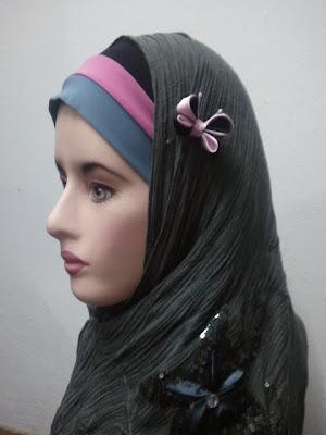 butterfly kanzashi, brooch, hijab accessory, tudung