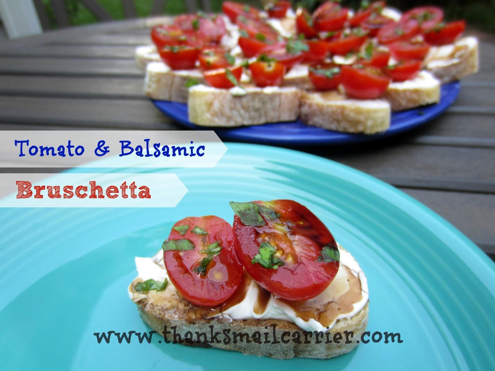 Tomato and Balsamic Bruschetta