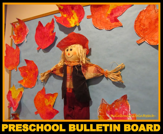 photo of: Preschool Art Project for Fall on Bulletin Board (via RainbowsWithinReach)