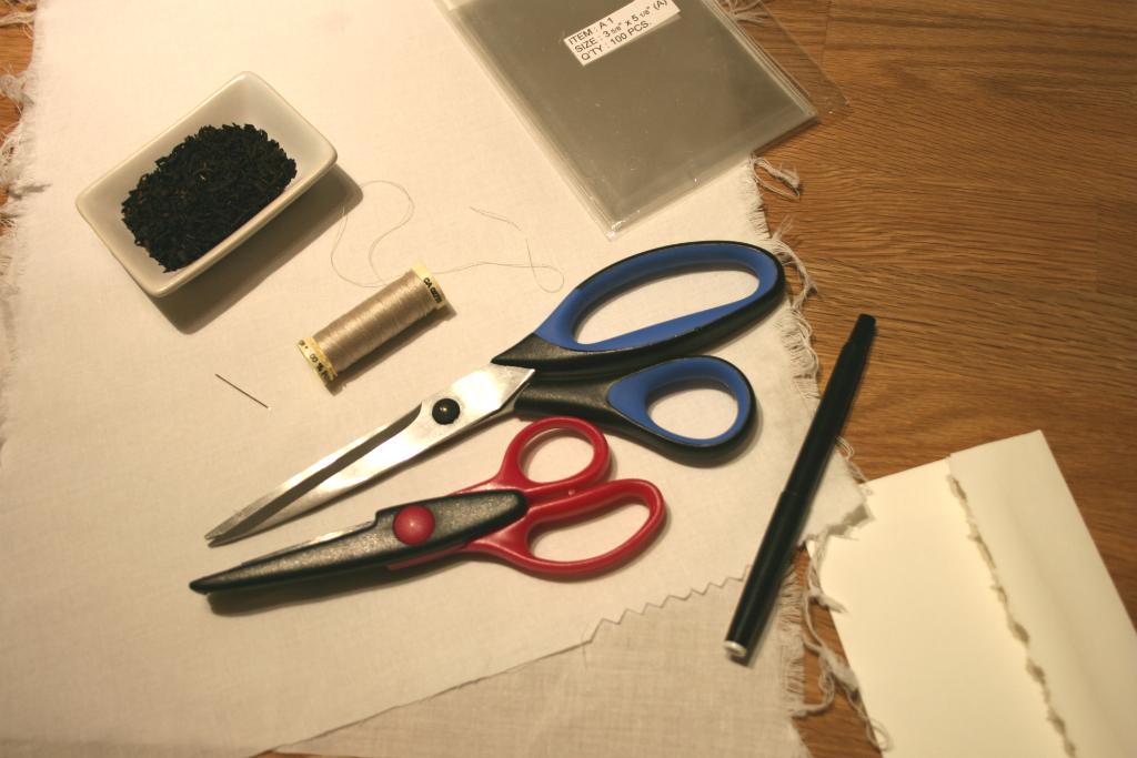 Carotte lychee tutoriel comment faire des sachets de th personnalis s - Fabriquer des sachets de the ...