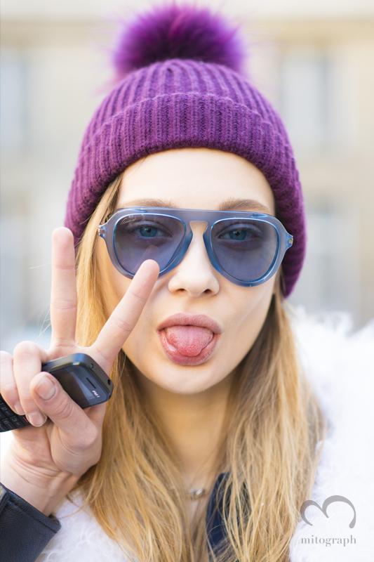 Model Tanya Katysheva at Paris Fashion Week 2015-2016 Fall Winter PFW