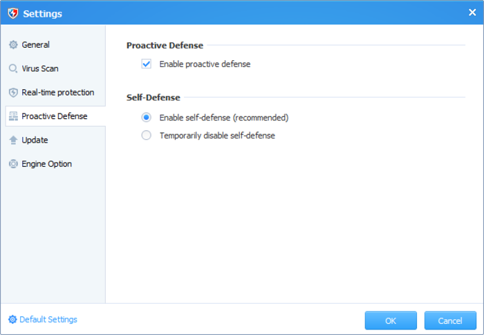 Baidu Antivirus 2014 - Enable Proactive Defense