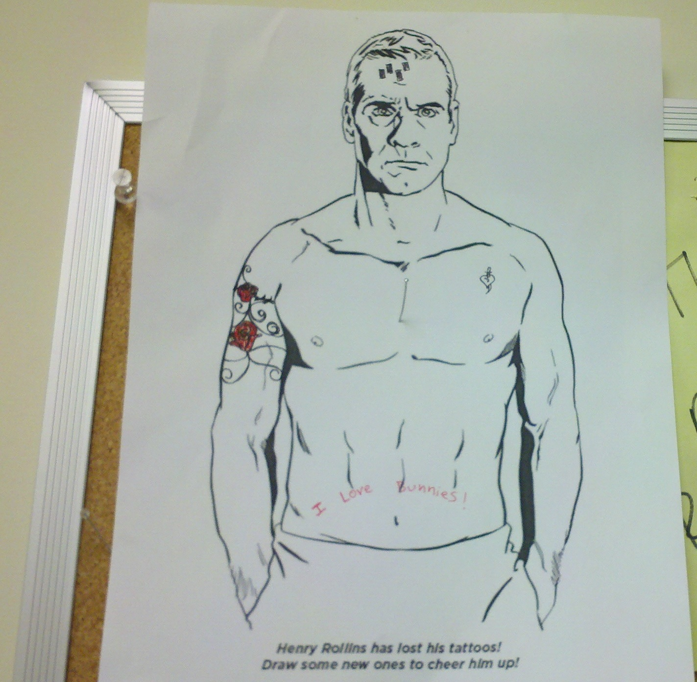 Henry Rollins Coloring Page