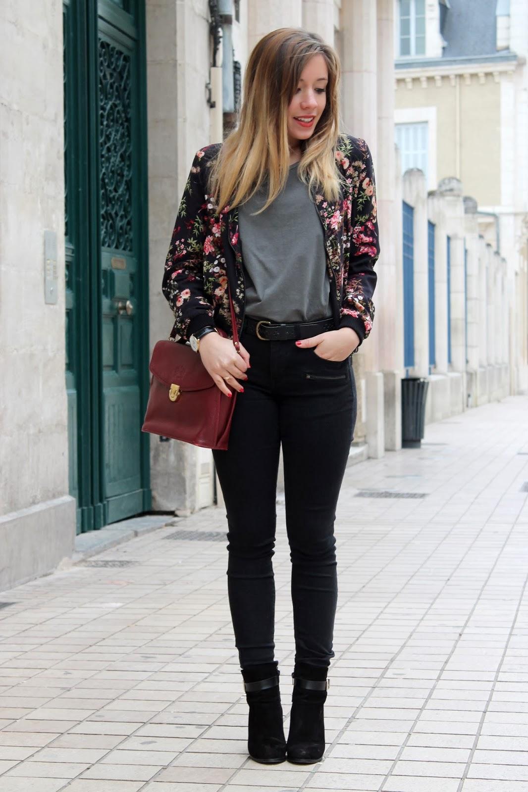 Skinny noir zippé Reiko jeans