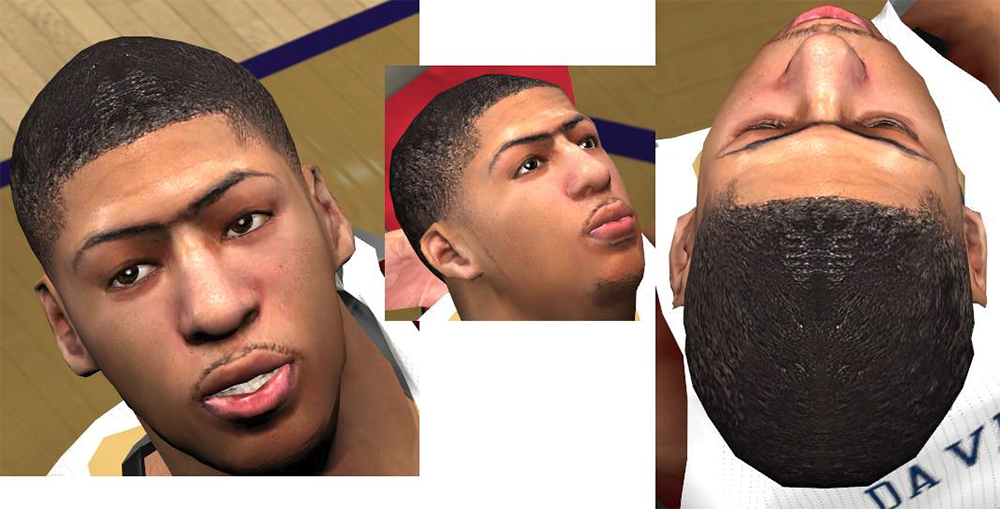 NBA 2K14 Anthony Davis Next-Gen Cyberface Patch