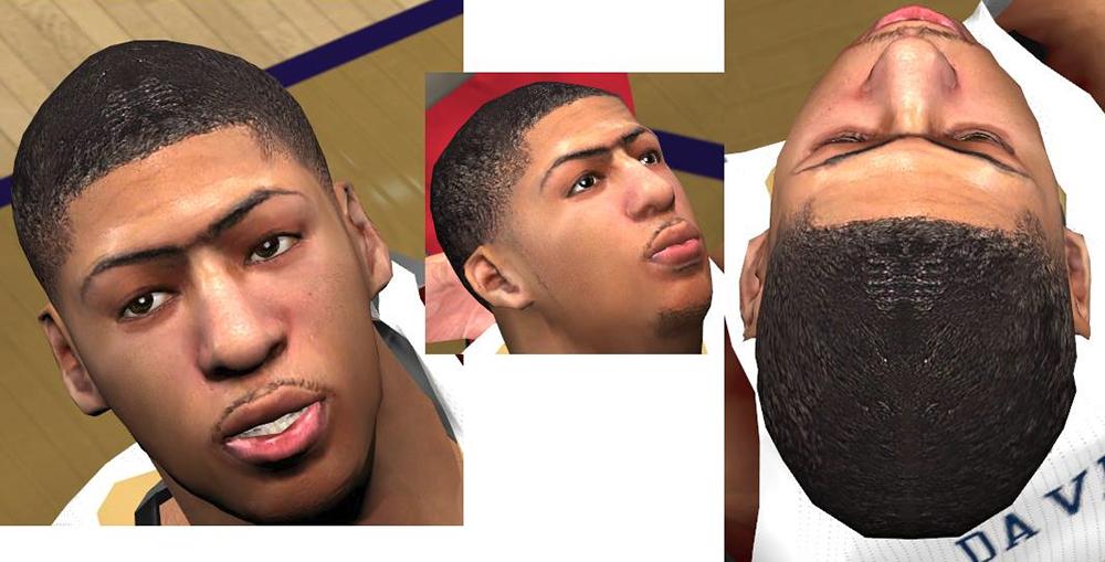 NBA 2K14 Anthony Davis Next-Gen Cyberface Patch