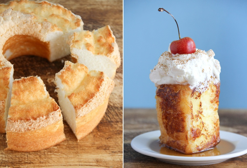 Toasted Angel Food Cake Slices