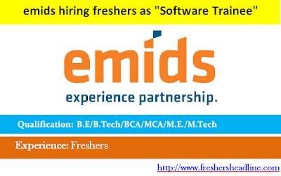 emids hiring freshers as Software Trainee
