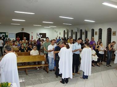 comunhão na Missa da pastoral