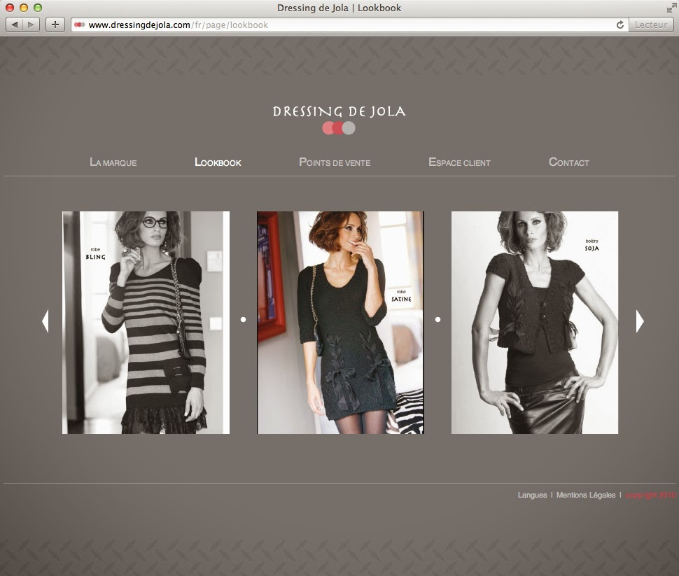 firma de ropa moderna Dressing de Jola