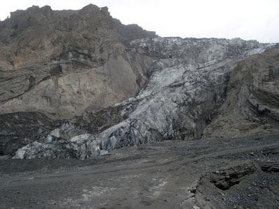 Eyjafjallajökull's main outlet glacier, Gígjökull