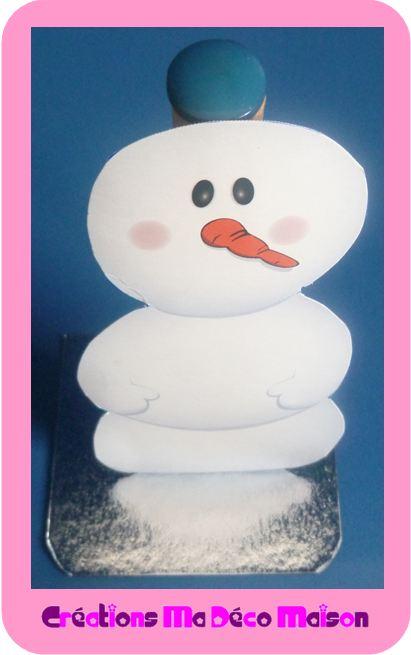 Bo te en plastique d cor e plus bonhomme de neige en papier cr ations ma d co maison - Bonhomme de neige en papier ...