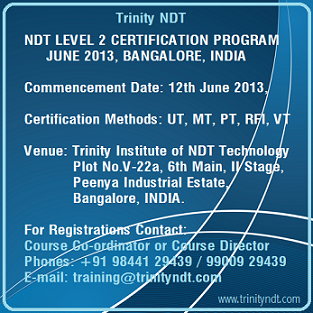 Upcoming NDT Level II Training Schedules