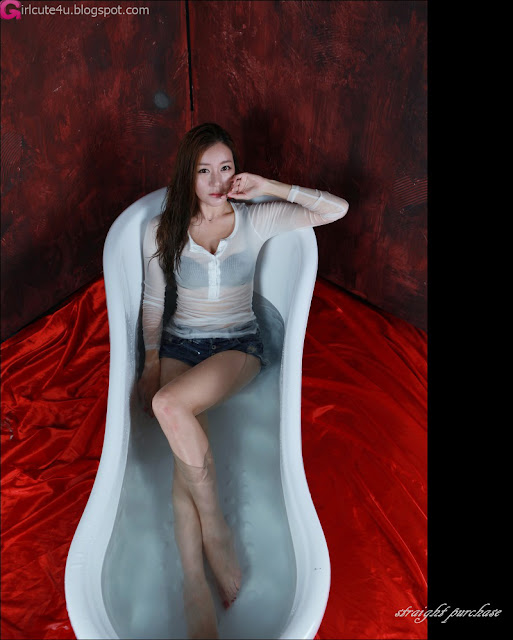 3 Han Ji Eun in Bath Tub-Very cute asian girl - girlcute4u.blogspot.com
