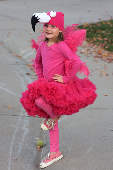 Flamingo Tutu Costume http://kidsmatter1.blogspot.com/2011/10/monday-meanderings-halloween-costumes_17.html