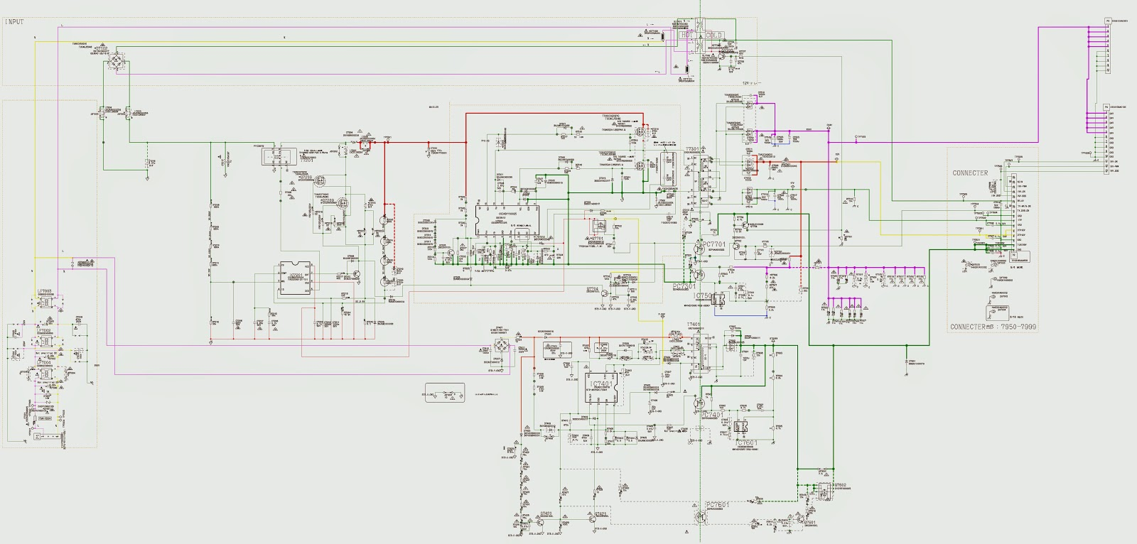 PANASONIC TC L42S20B LCD TV SMPS Power Supply SCHEMATIC Circuit ...