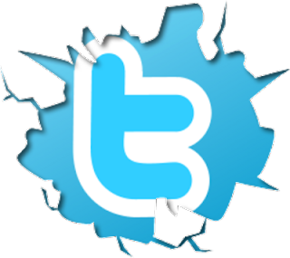 cracked twitter logo