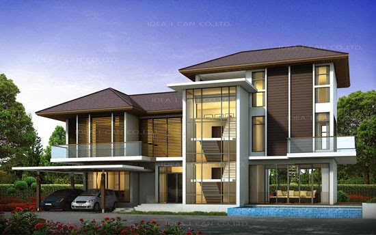 The Three Story Home Plans 5 Bedrooms 6 bathrooms Tropical Style