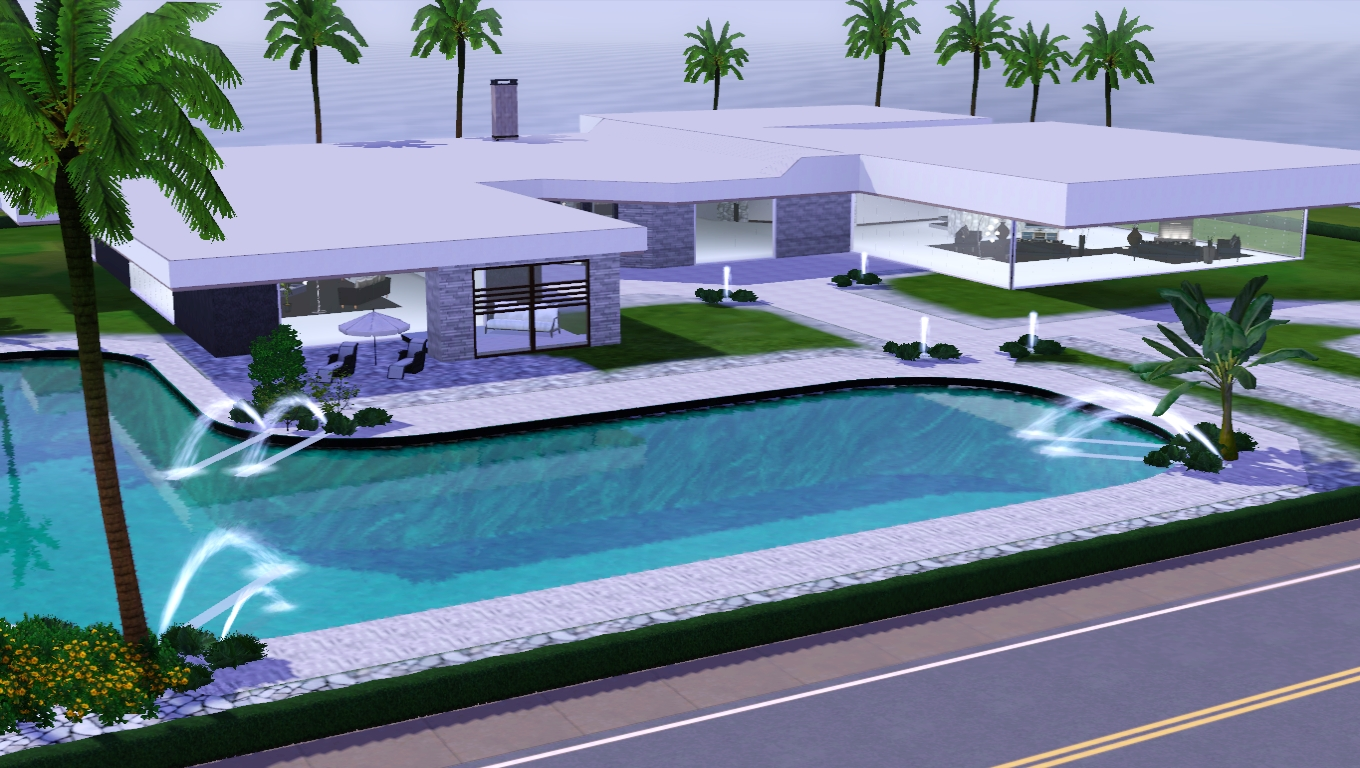 The sims giuly download e tutorial di the sims 3 big modern house - The sims 3 case moderne ...
