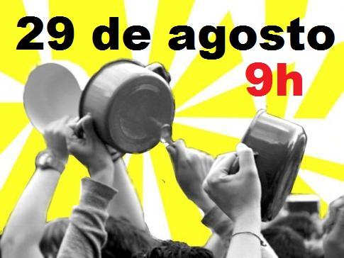 29 de agosto, 9h: Panelaço e Buzinaço