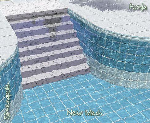 Escada para piscina the sims 3 for Piscina sims 4