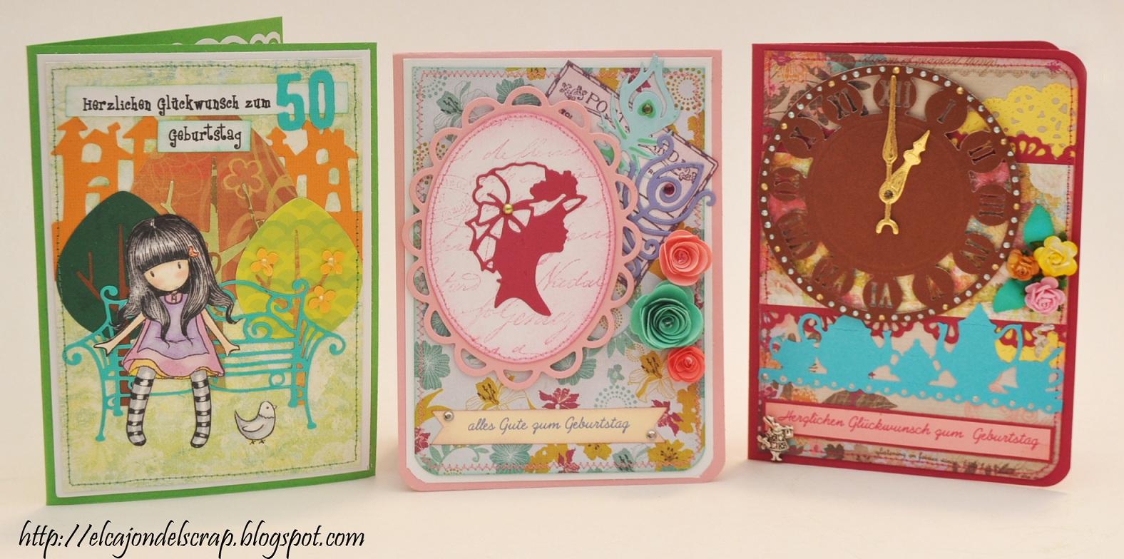 el cajón del scrap tarjetas para cumpleaños