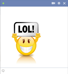 Facebook smiley face LOL