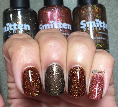 Smitten Polish Can You BeLeaf These Puns? vs Candle Reflections vs Penny Dreadful