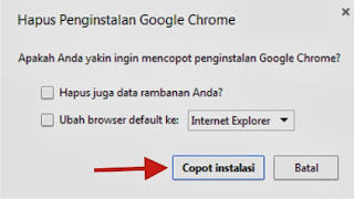 Cara Uninstall Google Chrome di Komputer