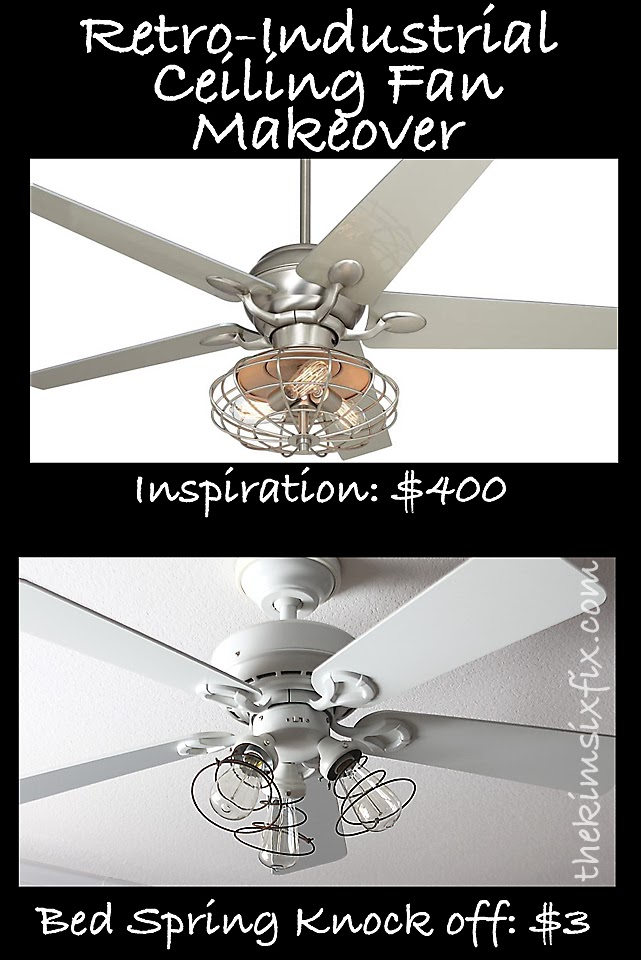 Industrial ceiling fan makeover using vintage mattress springs the industrial ceiling fan makeover using vintage mattress springs the kim six fix aloadofball Images