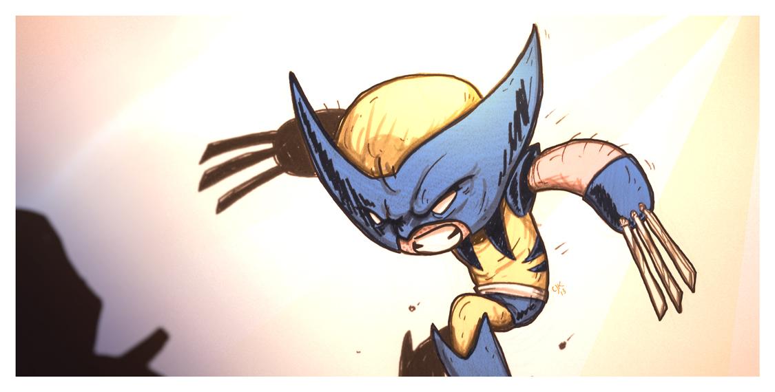Cam Kendell Illustration Art Design Blog Cute Little Wolverine The X men Kind