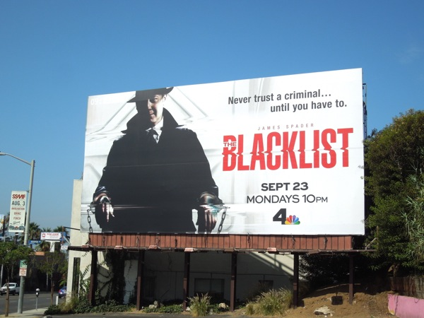 The Blacklist series premiere billboard