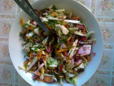 salata de varza si cruditati