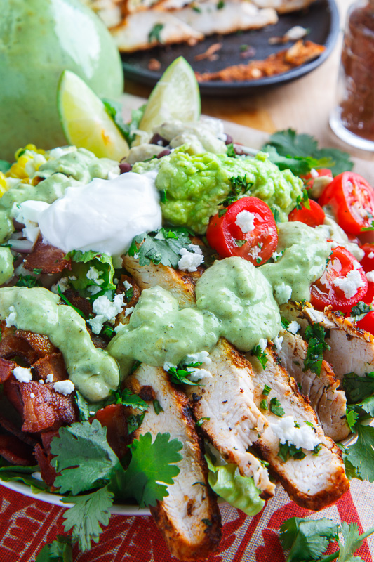 BBQ Chicken Salad With Creamy Avocado Dressing Recipes — Dishmaps